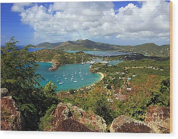 English Harbor Antigua Wood Print by Sophie Vigneault