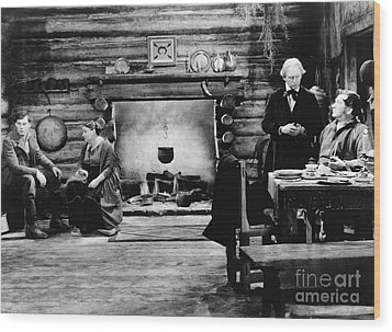 Film Still: Abraham Lincoln Wood Print by Granger