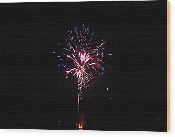 Fireworks Wood Print by Robbie Basquez