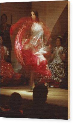 Flamenco Dancer Wood Print by Carl Purcell