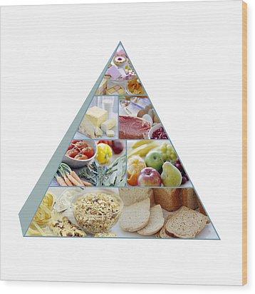 Food Pyramid Wood Print by David Munns