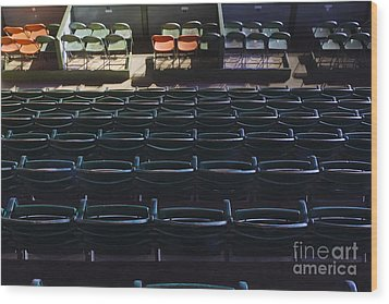 Fort Worth Stockyards Coliseum Seating Wood Print by Jeremy Woodhouse