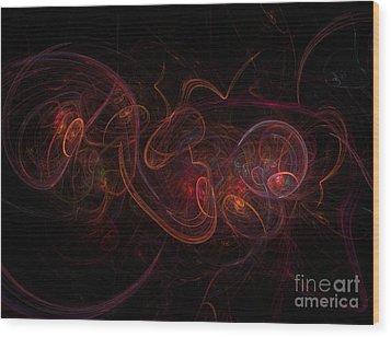 Fractal Wood Print by Henrik Lehnerer