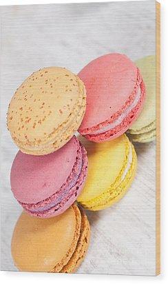French Macarons Wood Print by Sabino Parente