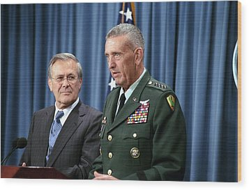 General Tommy Franks Commander Of U.s Wood Print by Everett