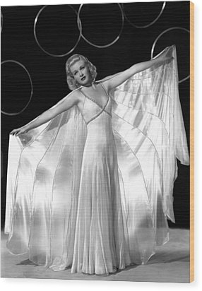 Ginger Rogers, In A Publicity Portrait Wood Print by Everett
