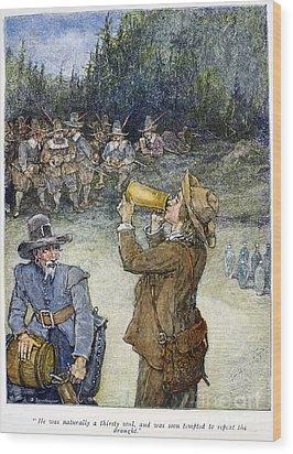 Irving: Rip Van Winkle Wood Print by Granger