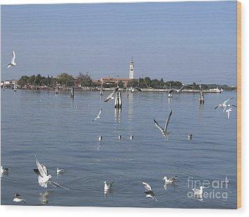 Lagoon. Venice Wood Print by Bernard Jaubert