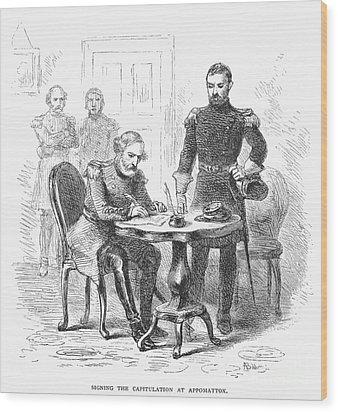 Lees Surrender, 1865 Wood Print by Granger
