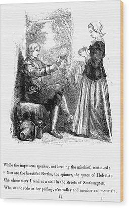 Longfellow: Standish, 1859 Wood Print by Granger