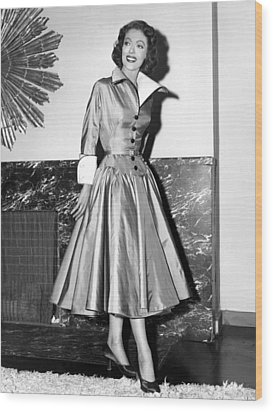 Loretta Young Show, Loretta Young Wood Print by Everett