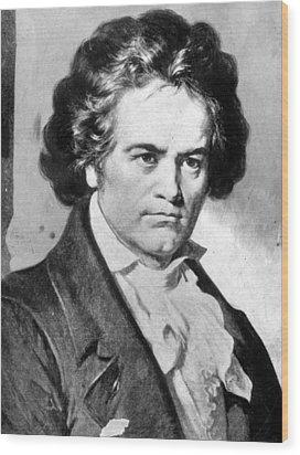 Ludwig Van Beethovencsueverett Wood Print by Everett