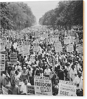 March On Washington. 1963 Wood Print by Granger