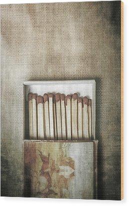 Matches Wood Print by Joana Kruse