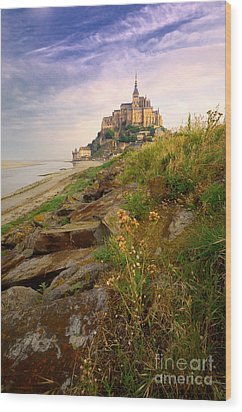 Mont-saint-michel France Wood Print
