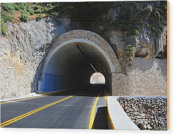 Mountain Tunnel. Wood Print by Fernando Barozza