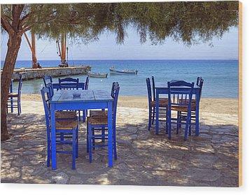 Naxos - Cyclades - Greece Wood Print by Joana Kruse