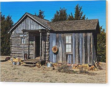 Old Cabin Wood Print by Doug Long