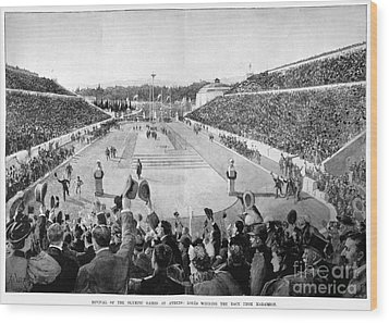 Olympic Games, 1896 Wood Print by Granger