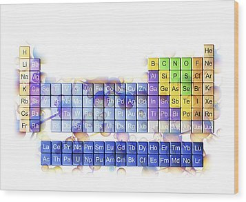 Periodic Table Wood Print by Pasieka
