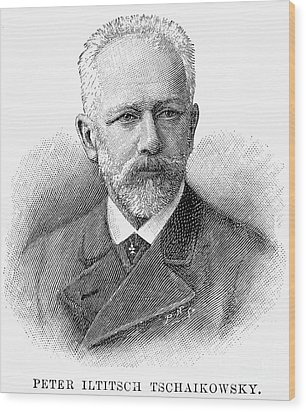 Peter Ilich Tchaikovsky Wood Print by Granger