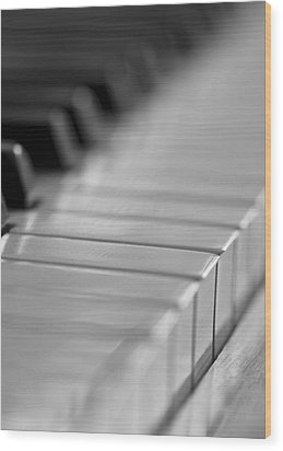 Piano Keys Wood Print by Falko Follert