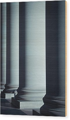 Pillars Of Law And Education Wood Print