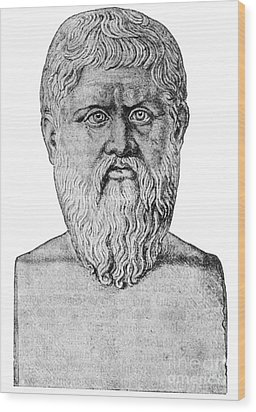 Plato, Ancient Greek Philosopher Wood Print by Science Source