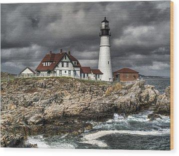 Portland Head Lighthouse Wood Print by Joe  Palermo