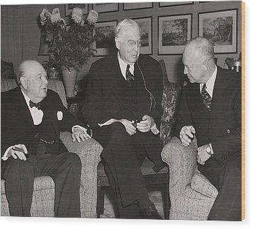 Prime Minister Winston Churchill Wood Print by Everett
