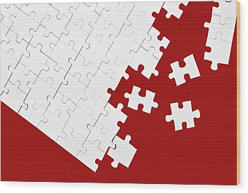 Puzzle Wood Print by Joana Kruse