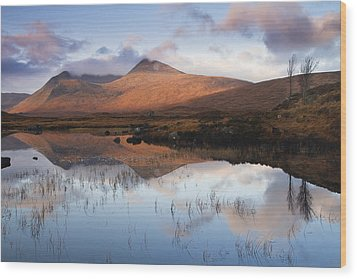 Rannoch Moor At Sunrise Wood Print