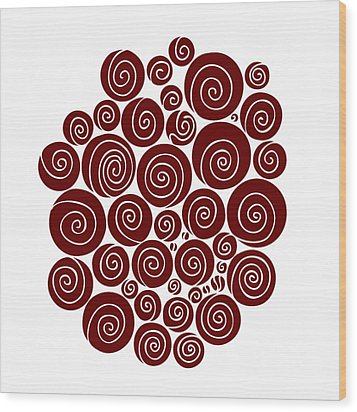 Red Abstract Wood Print by Frank Tschakert