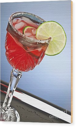 Red Cocktail Drink Wood Print by Blink Images