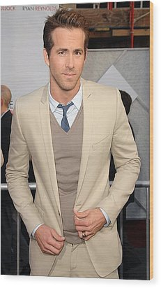Ryan Reynolds At Arrivals For The Wood Print by Everett