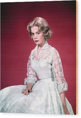 Sandra Dee, Ca. 1950s Wood Print by Everett