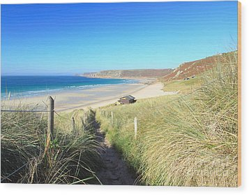 Sennen Cove Wood Print by Carl Whitfield