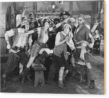 Silent Film Still: Pirates Wood Print by Granger