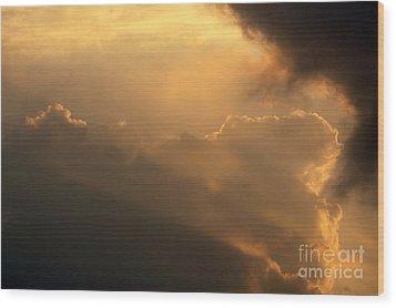 Sky Wood Print by Odon Czintos