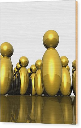 Social Networking, Conceptual Image Wood Print by Victor Habbick Visions