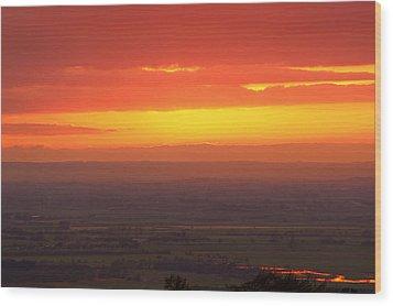 Sunset Wood Print by Svetlana Sewell
