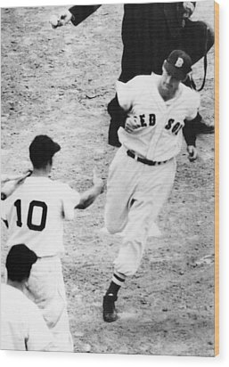 Ted Williams Of The Boston Red Sox Wood Print by Everett