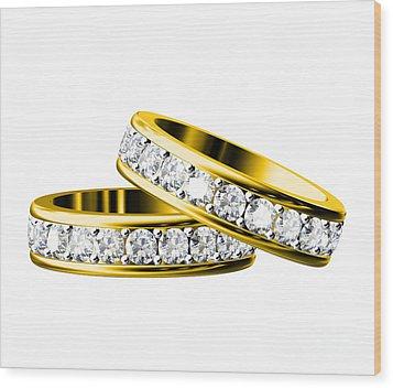 The Beauty Wedding Ring Wood Print by Rattanapon Muanpimthong