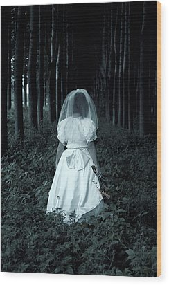 The Bride Wood Print by Joana Kruse