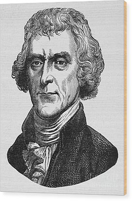 Thomas Jefferson Wood Print by Granger