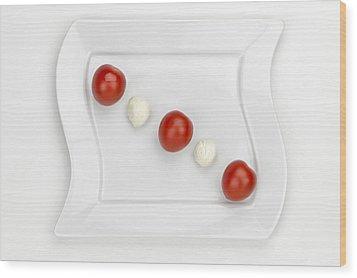 Tomato Mozzarella Wood Print by Joana Kruse