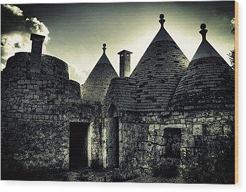 Trulli Wood Print by Joana Kruse