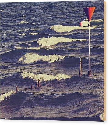 Waves Wood Print by Joana Kruse
