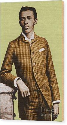 W.e.b. Du Bois, Civil Rights Activist Wood Print by Photo Researchers