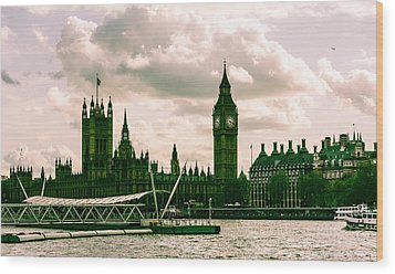 Westminster Wood Print by Dawn OConnor